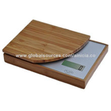 Electronic bamboo kitchen scale with one sensor weighing system, unique design
