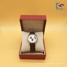 Caixa de empacotamento do relógio do cartão do luxo por atacado feito sob encomenda da fábrica de China