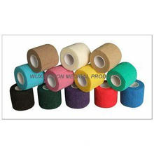 Non - Woven Self Adhesive Colored Bandage Hand Tear / Ankle