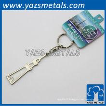 Porte-clés personnalisé de la tour Eiffel