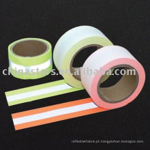 Fluorescente Flame Retardant Tecido Reflectivo, material reflexivo.EN471
