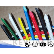 Flexible 4KV Silicone Rubber Braided Fiberglass Sleeving
