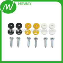 OEM Supply Durable Car Licence Plate Fixing Srew With White Cap