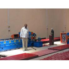 Maquinário para fabricação de telhas com revestimento colorido