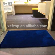 tapis de porte plaine en polyester lavable à la machine en gros