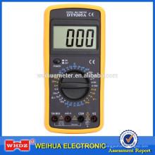 Multimètre numérique DT9205A à bas prix avec mise à l'arrêt automatique du test de capacité