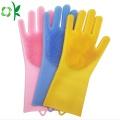 Luvas De Escova De Limpeza De Lavagem De Silicone Gloveses De Lavar Louça