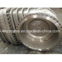 Válvula de porta de flange de grande porte em aço inoxidável