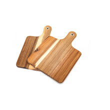 KINDOME Acacia Wood Cutting Boards Wood Pizza Peels Wood Chopping Board for Kitchen Set of 2