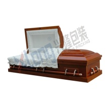 Velveteen Interior Cherry Veneer Disassembled Half Open Casket