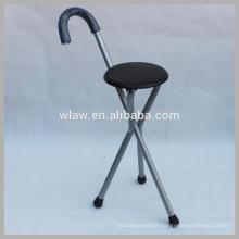 Three legs cane with chair folding crutch chair