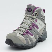 Zapatos de cuero genuino de senderismo con impermeable para las mujeres