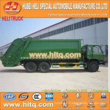 DONGFENG 6x4 16/20 m3 chariot à déchets comprimés à chargement arrière moteur diesel 210hp avec mécanisme de pressage