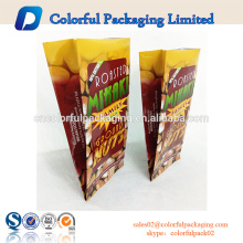 Customized aluminum foil gusset roasted ground packaged nuts&snacks packaging plastic bag