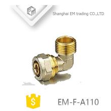 EM-F-A110 Außengewinde, Messing, Druckanschluss, Rohrbogenfitting