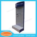 Metall-Regal mit hölzerner Rückenleiste Wand Display-Stand