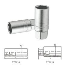 "Mirror Surface Polishing Cr-V 1/2"" 3/8""Spark Plug Sockets"