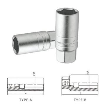 "Spiegel Oberflächenpolieren Cr-V 1/2 ""3/8"" Zündkerzenstecker"