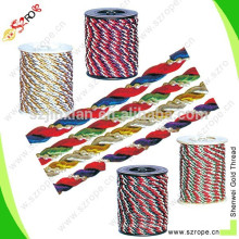 2015 5mm polyester colorful Decorative Rope