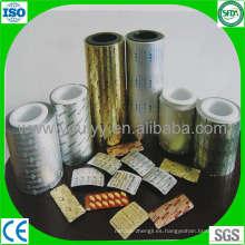Papel de aluminio para embalaje de blíster