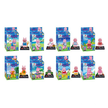 Cartoon Rosa Schwein Modell Mini-Figuren Bausteine 10245782