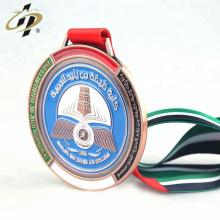 Cheap personalizado su propio diseño medallas de metal de logotipo de esmalte para la reunión deportiva