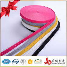 Customized branded button eye elastic band spandex tape for clothing
