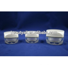 5G 10G Square acrylic cream jar for packaging mini acrylic jars paint color eye cream jar