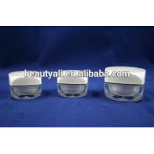 5G 10G Frasco de creme acrílico quadrado para empacotar frascos de acrílico mini pintura cor olho creme frasco