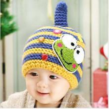 Crianças / Criança Crochet Knitted Beanie Hat / Cap