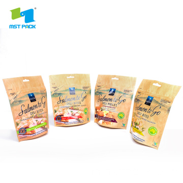 Kertas Kraft Cetak Stand Up Pouch Food Bag