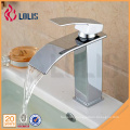 Deck Mount Waterfall Bathroom Faucet Vanity Vessel Sinks Mixer Tap Cold And Hot Water Tap