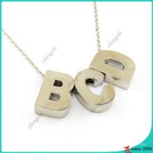 Мода Серебряный начальные буквы ожерелье для девочки (FN16041809)