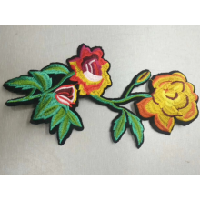 Colorful Rose flower embroidery patch etsy