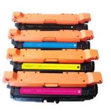 Cor Cartucho de toner compatível para HP CE260A CE261A CE262A CE263A