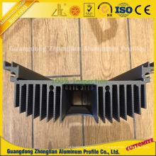 L'aluminium a expulsé le radiateur rectangulaire de la chaleur LED pour le radiateur composé