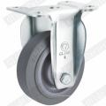 Rueda giratoria de doble rodamiento TPR de servicio mediano (gris) G3302