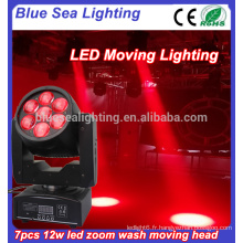 7x12w 2016 nouvelle led dj lights circle led lavage de tête de tête en mouvement