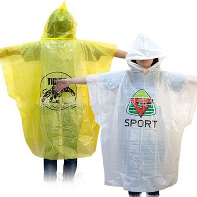 Rain Poncho With Customized Logo