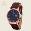 Relojes de pulsera de cuero de oro rosa de los hombres del reloj de lujo 72338