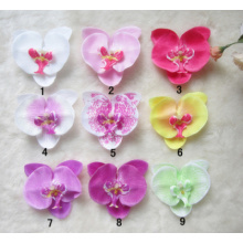 Wholesale Butterfly Orchid Flower Hair Clip Artificial Flowers For Baby Headbands Phalaenopsis Barrettes Headwear