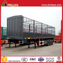 Massenguttier-Viehtransport-Transportanhänger mit Seitenzaun