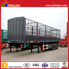 Bulk Cargo Animal Livestock Transport Horse Trailer with Side Fence