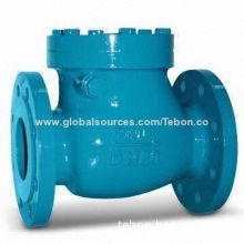 Cast/Ductile Iron Swing Check Valve with Flanged Ends, ANSI/DIN/BS Standard, Metal or Rubber Seated