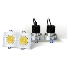 LED-Einbauleuchte - 2 x 6W COB - quadratisches Gehäuse