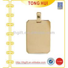 Gold blank dog necklace fábrica imitação de jóias