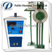 Lame de segment de diamant de soudure à haute fréquence de machine d'induction manuelle de support
