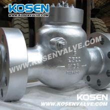 Válvulas de retenção de vedação de pressão com flange de aço fundido