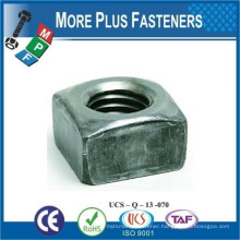 Made in Taiwan Square Nut Black Oxide Stainless Zinc Finished Steel Regular