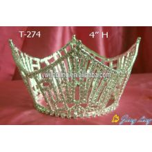 "4"" Height Rhinestone Full Round Crowns Wholesale"